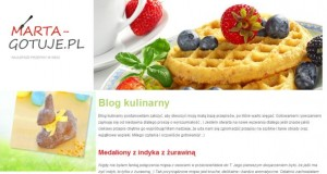 marta-gotuje.pl zrzut ekranu bloga